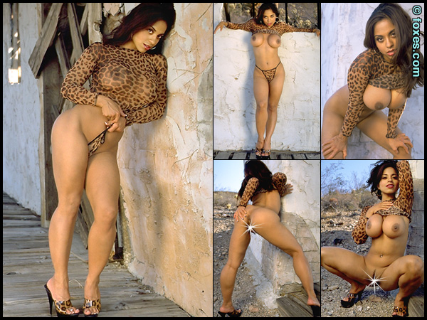 Angela Devi in Leopard Lusty at Foxes.com
