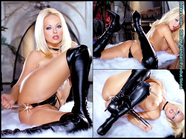 Jana Cova in Boots and Toy at Foxes.com